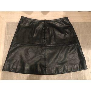 Adorable leather mini skirt UK size 6